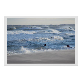 People swimming in Ocean Poster
