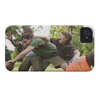 People tackling while playing football iPhone 4 Case-Mate case
