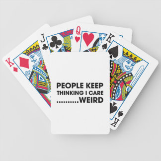 People Think I Care Bicycle Playing Cards