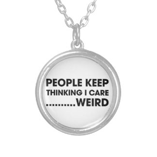 People Think I Care Silver Plated Necklace