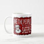 People Wake up Sheeple Basic White Mug