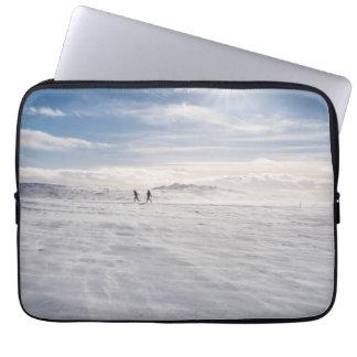 People walking over snow, Iceland Laptop Sleeve