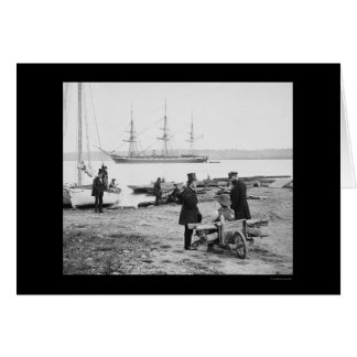 People Watching the Steam Frigate, Pensacola 1861 Card