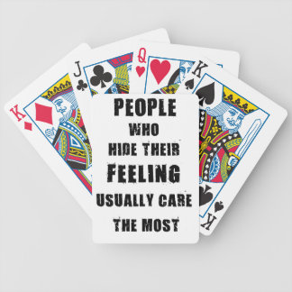 people who hide their feeling usually care most bicycle playing cards