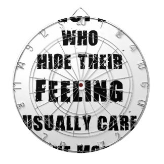 people who hide their feeling usually care most dartboard