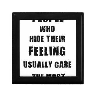 people who hide their feeling usually care most gift box