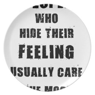 people who hide their feeling usually care most party plates