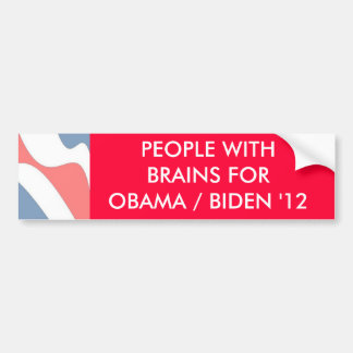 PEOPLE WITH BRAINS  - bumper sticker