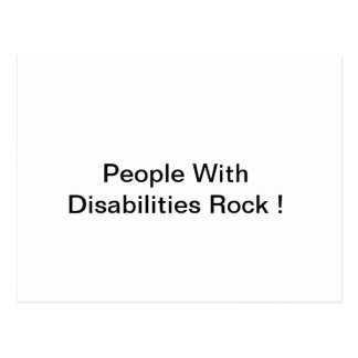People with Disabilities Rock Postcard