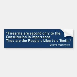 People's Liberty's Teeth Bumper Sticker