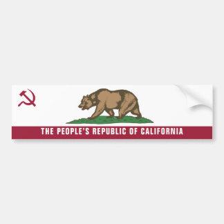 People's Republic Of California Bumper Sticker