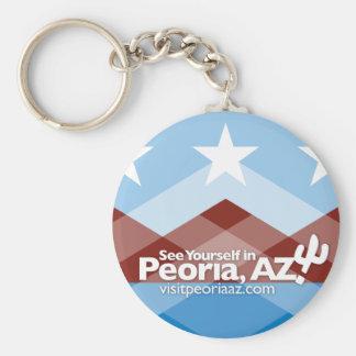 Peoria Flag Keychain, Circle Keychain