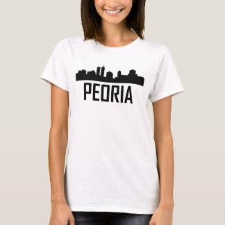 Peoria Illinois City Skyline T-Shirt