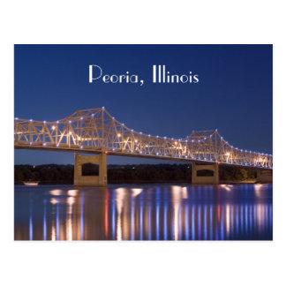 Peoria Illinois Murray Baker Bridge PostCard