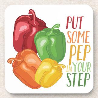 Pep In Step Drink Coasters