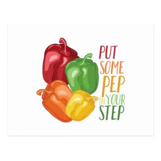 Pep In Step Postcard