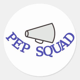 Pep Squad Classic Round Sticker