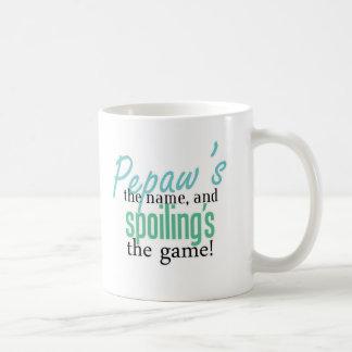 Pepaw's the Name, and Spoiling's the Game Coffee Mug