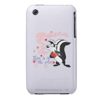 Pepe Le Pew Love is in the Air iPhone 3 Case