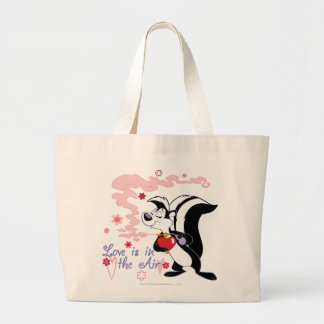Pepe Le Pew Love is in the Air Large Tote Bag