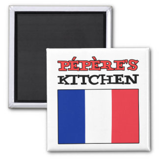 Pepere's Kitchen With Flag Of France Magnet
