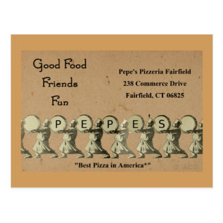 Pepe's Pizzeria Fairfield Postcard