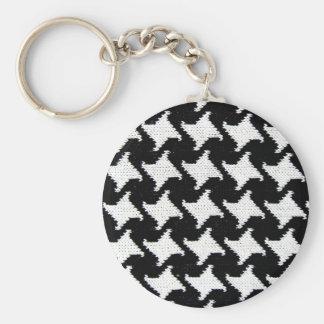 Pepita black and white keychain