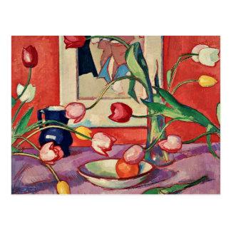 Peploe - tulipes, la cruche bleue carte postale