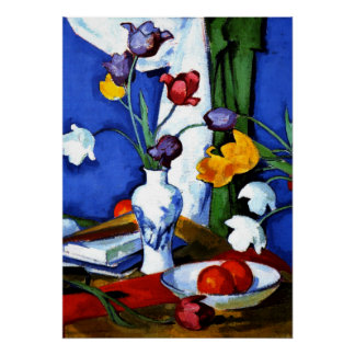 Peploe - Tulips and Fruit Poster