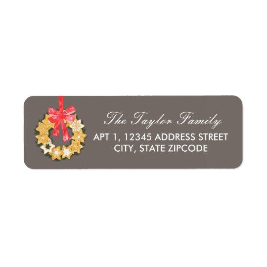 Pepparkakor Christmas Address Return Address Label