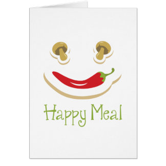 pepper and mushroom happy meal greeting card