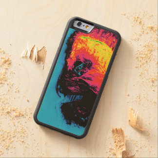 pepper and plastic silenced carved maple iPhone 6 bumper case