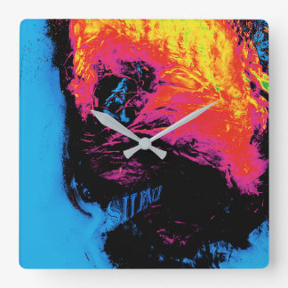 pepper and plastic silenced square wall clock