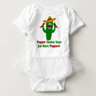 Pepper Cactus Says Eat More Peppers Baby Bodysuit