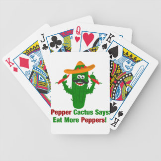 Pepper Cactus Says Eat More Peppers Bicycle Playing Cards