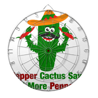 Pepper Cactus Says Eat More Peppers Dartboard