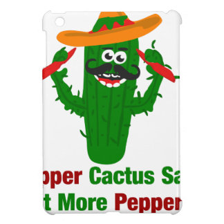 Pepper Cactus Says Eat More Peppers iPad Mini Case