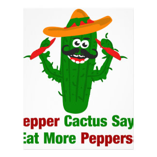 Pepper Cactus Says Eat More Peppers Letterhead