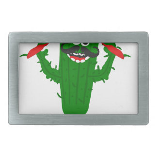 Pepper Cactus Says Eat More Peppers Rectangular Belt Buckles