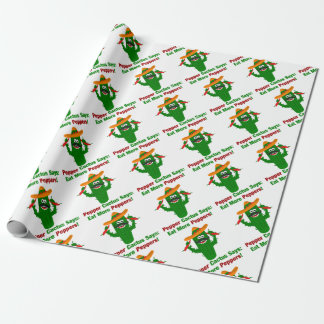 Pepper Cactus Says Eat More Peppers Wrapping Paper