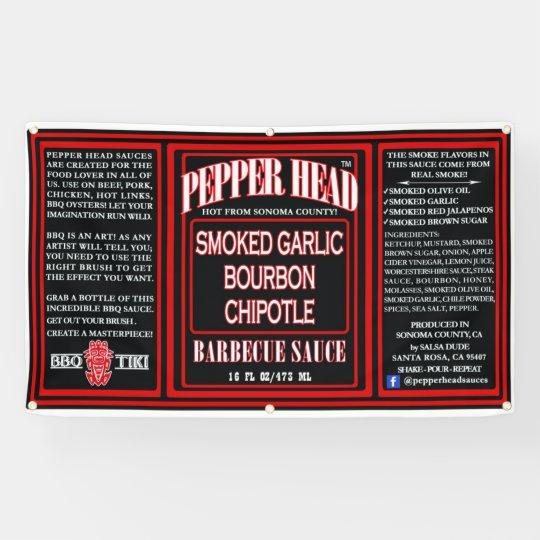 Pepper Head BBQ Sauce Banner