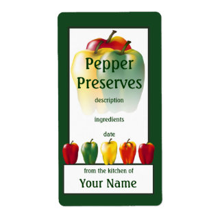 Pepper Preserves Cook's Canning Label Shipping Label