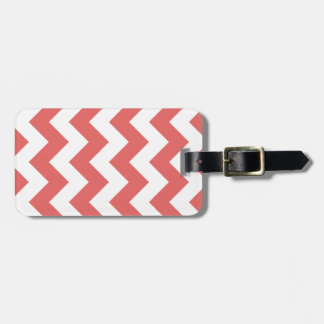 Pepper Red Chevron Zigzag Luggage Tag