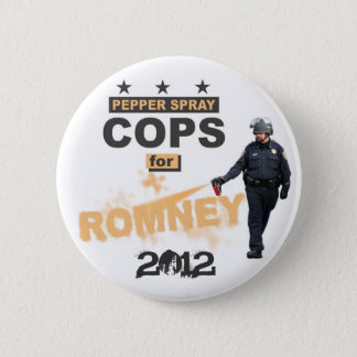 Pepper Spray Cops for Romney 2012 2 Inch Round Button