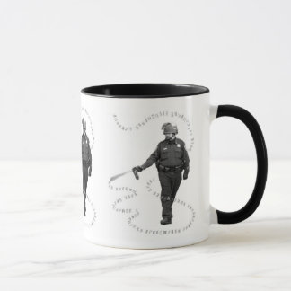 Pepper Spray Man on Two-Tone Mug