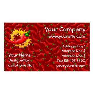 Pepper with flame business card template