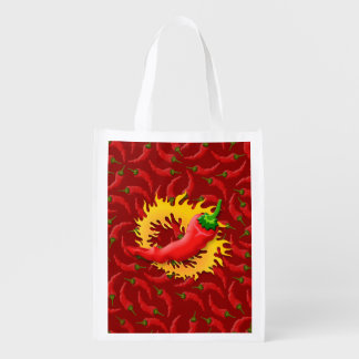 Pepper with flame market tote