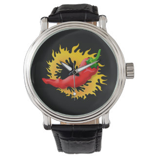 Pepper with flame watches