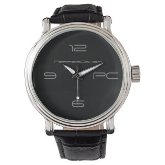 PepperCohen Men's Black Watch