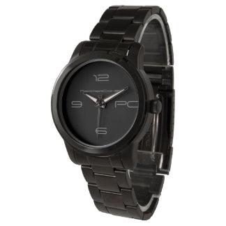 PepperCohen Unisex Black Stainless Steel Watch